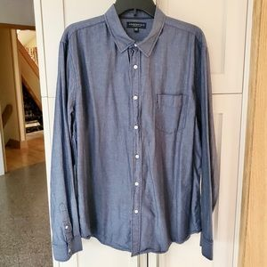 Aeropostale Gray Long Sleeve Button Down Shirt XL